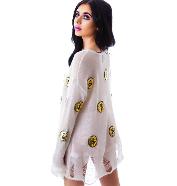 Wildfox Couture Gold Coins Lenon Sweater
