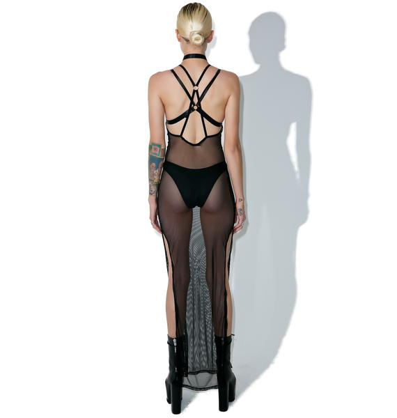 Current Mood Voyeur Fishnet Maxi
