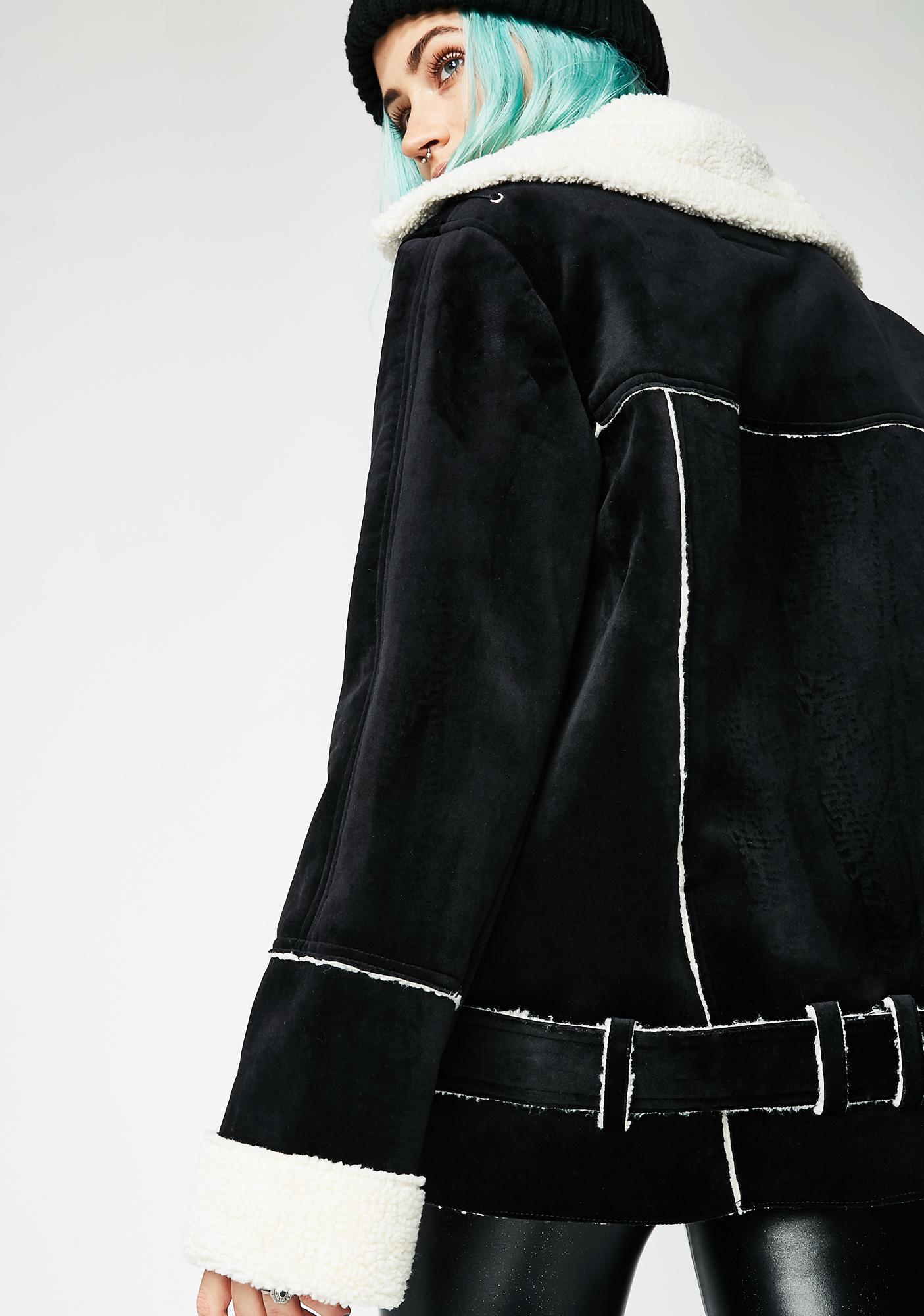 Blank NYC Down And Out Sherpa Coat
