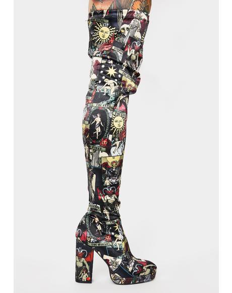 Divine Insight Thigh High Boots