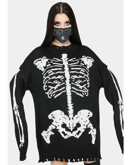 Fractured Fate Skeleton Sweater