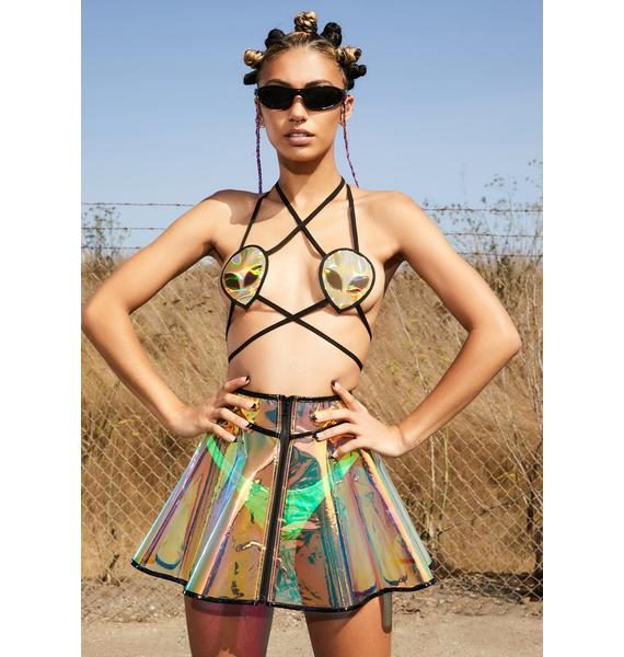 Club Exx Futuristic Fairy Circle Skirt