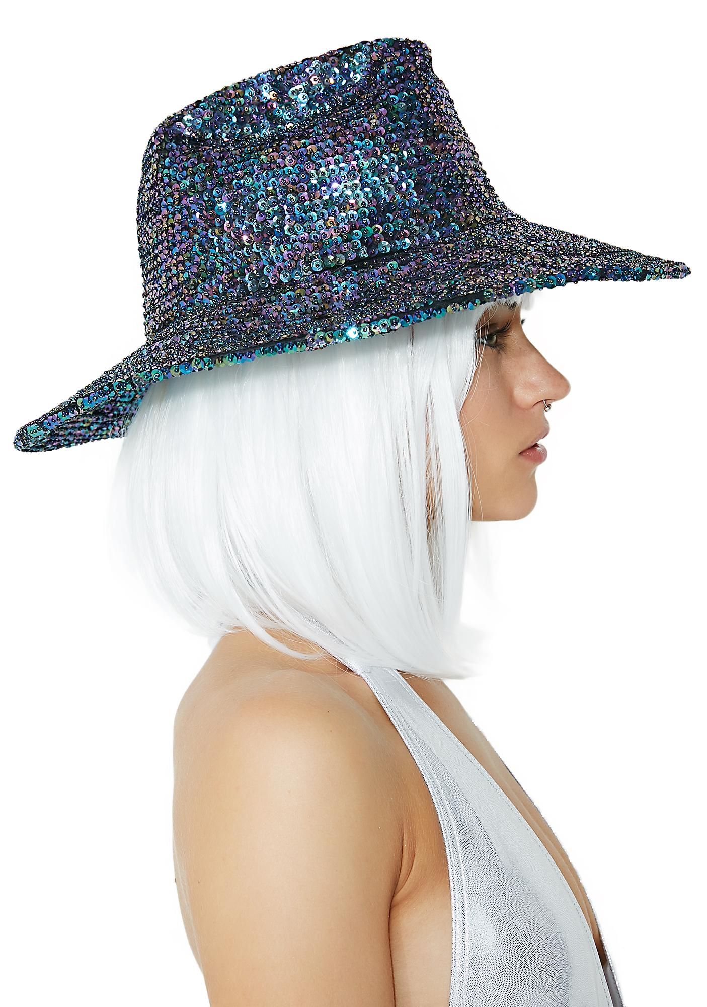 Peacock Cowgirl Cutie Sequin Hat