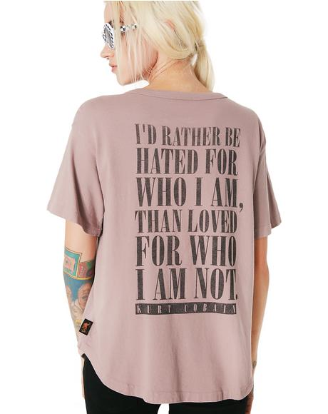 Kurt Cobain Lace-Up Boyfriend Tee