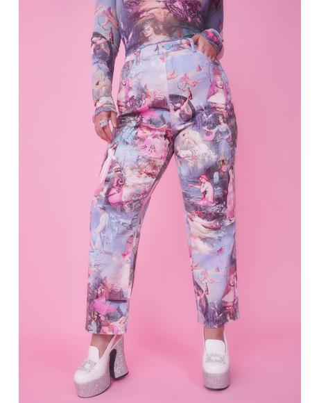 Divine Once Upon A Dime Twill Mom Jeans