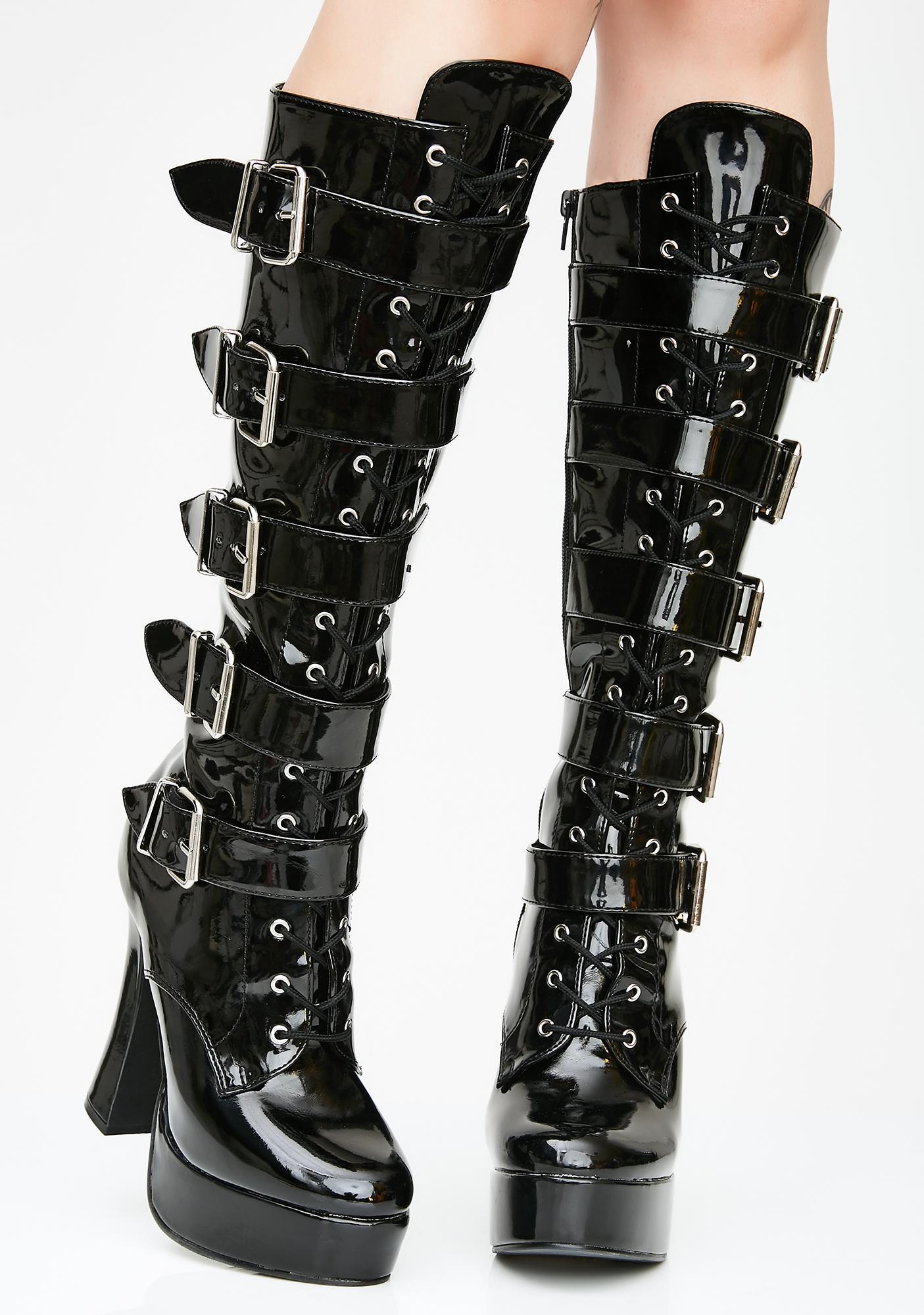 Pleaser Wild Antics Platform Boots