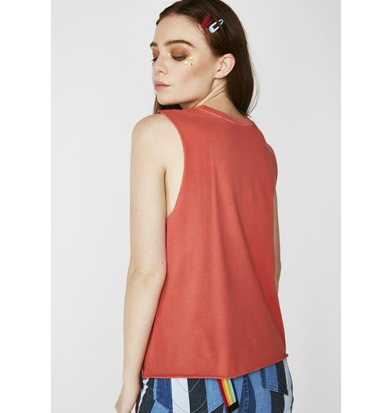 Desert Dreamer Just Drive Crop Muscle Tee