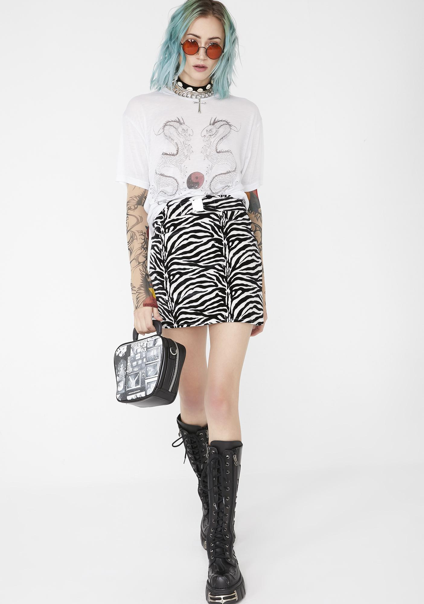 Babydol Clothing  Zebra Mini Skirt