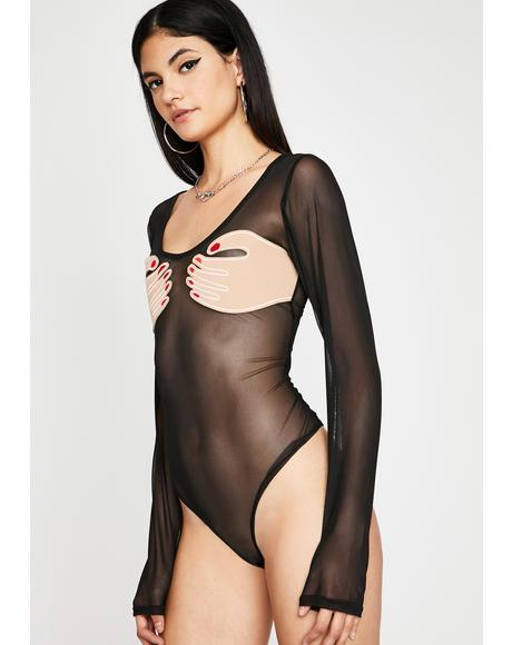 Dark Extra Support Sheer Bodysuit