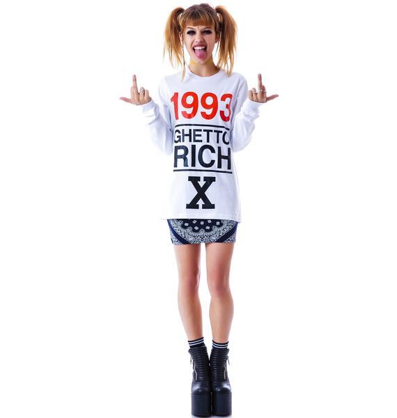 Joyrich 1993 Ghetto Rich x Long Sleeve Tee