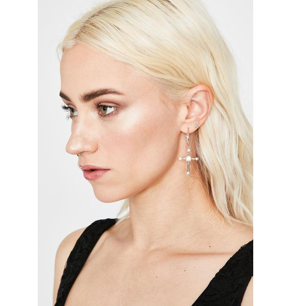 Baddie Religion Cross Earrings