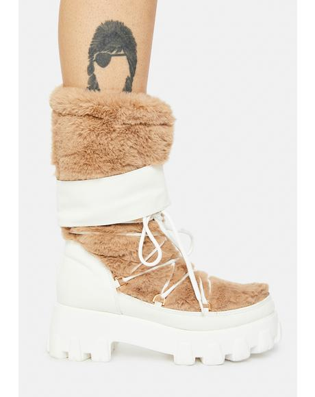 Pure Brutally Honest Fuzzy Combat Boots