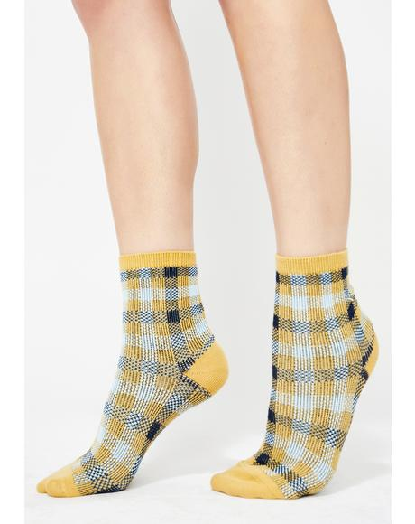 Bee Teenage Tycoon Plaid Socks