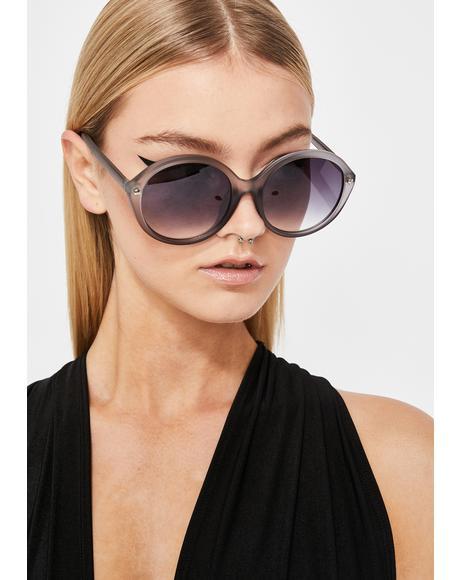 Wicked Mz. Magoo Circle Sunglasses