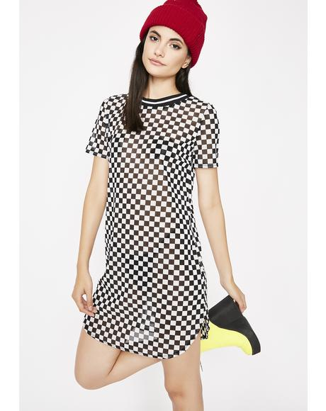 Radical Ride Checkered Dress