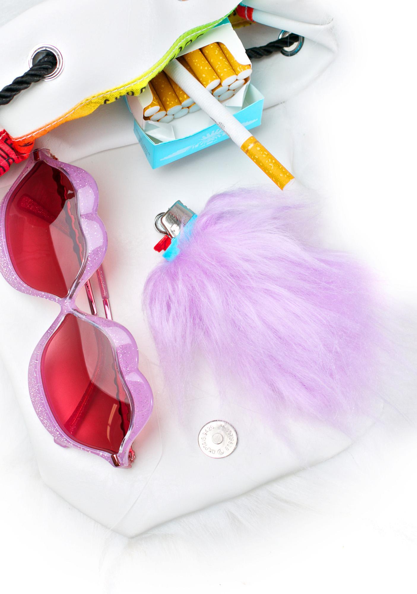 Kerenika Lite Up Lilac Fur Lighter Holder