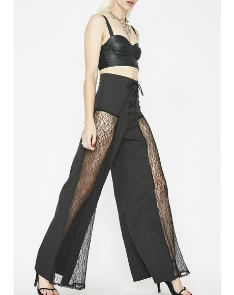 Corrupted Thoughts Lace-Up Pants