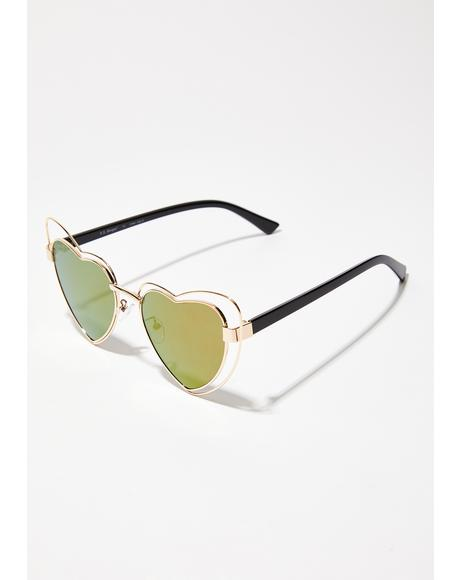 Love N Affection Heart Sunglasses