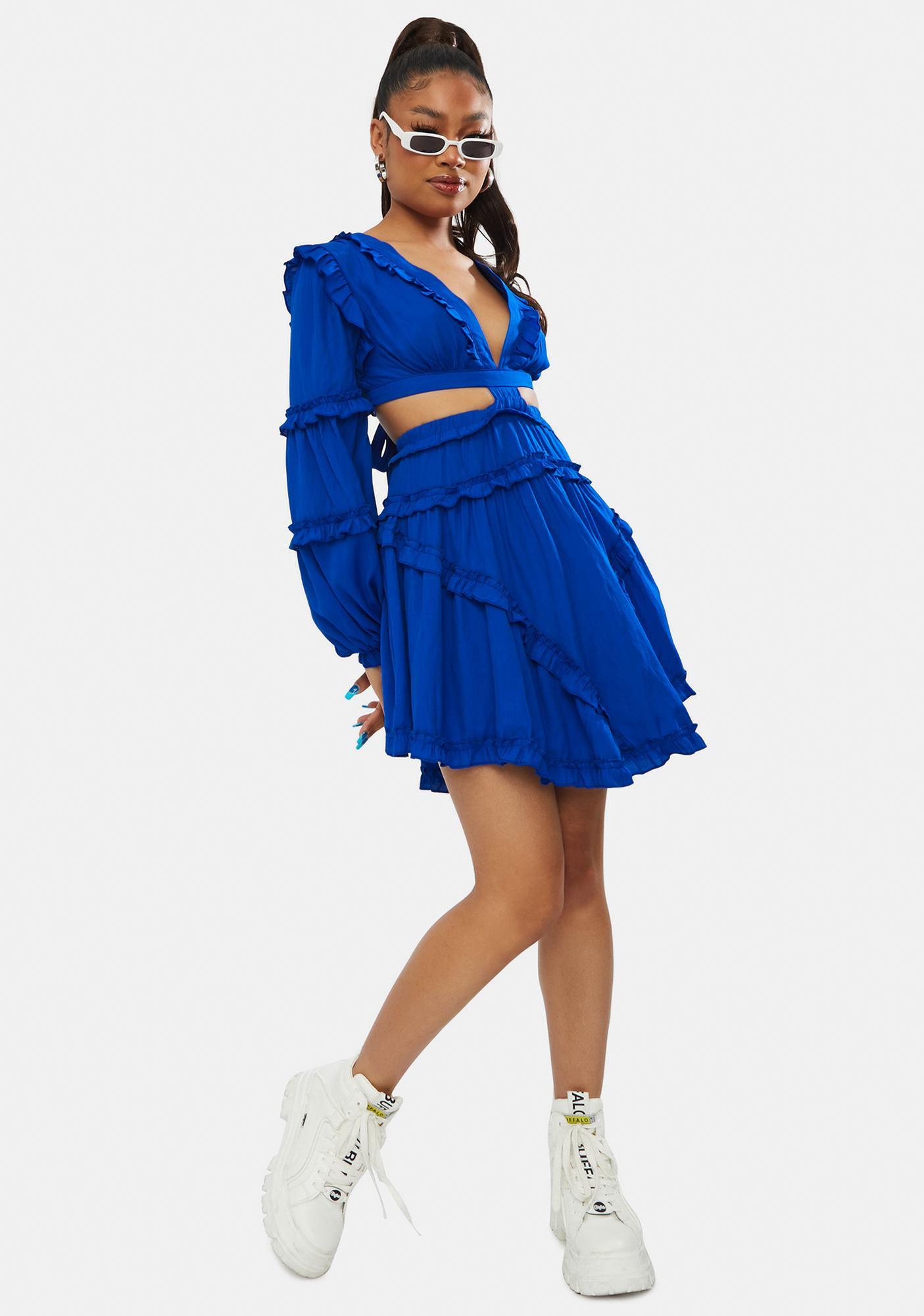 Ballroom Heart Ruffle Mini Dress