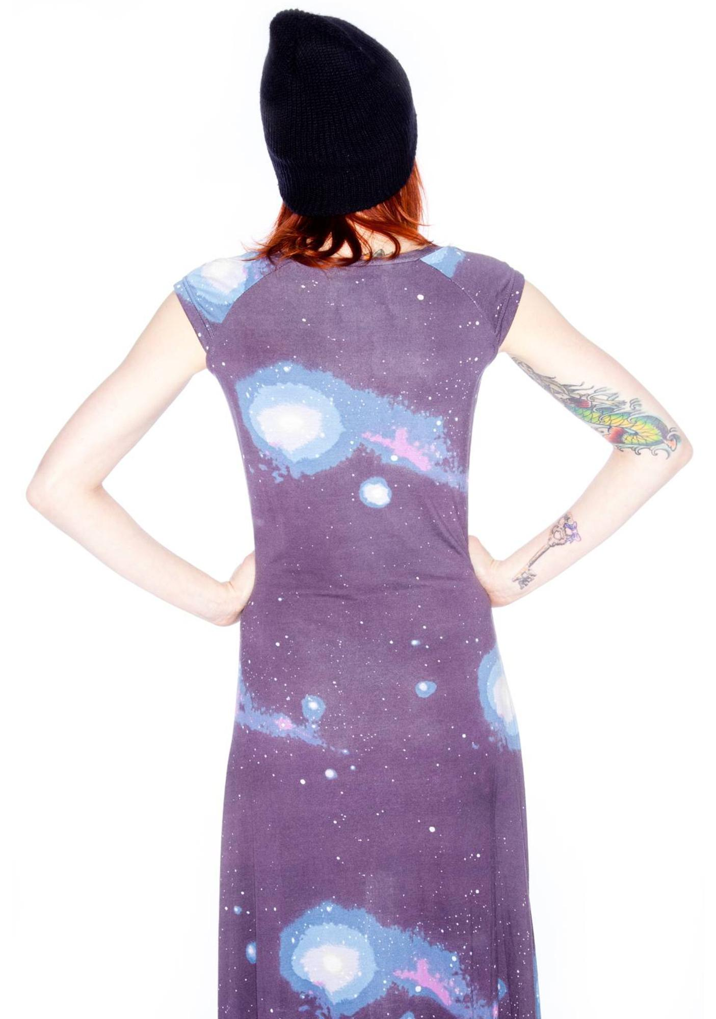 Sauce cosmic long dress dolls kill for Cosmic pattern clothing