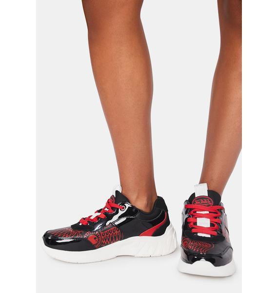 Von Dutch Black Fairfax OG Leather Sneakers