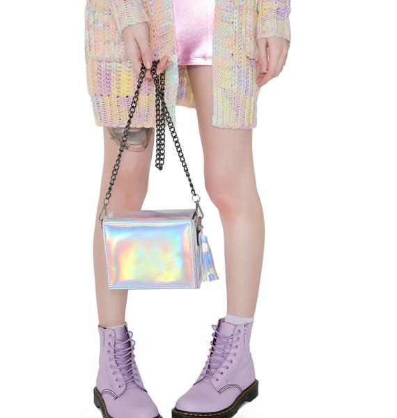 Squaresville Holographic Purse