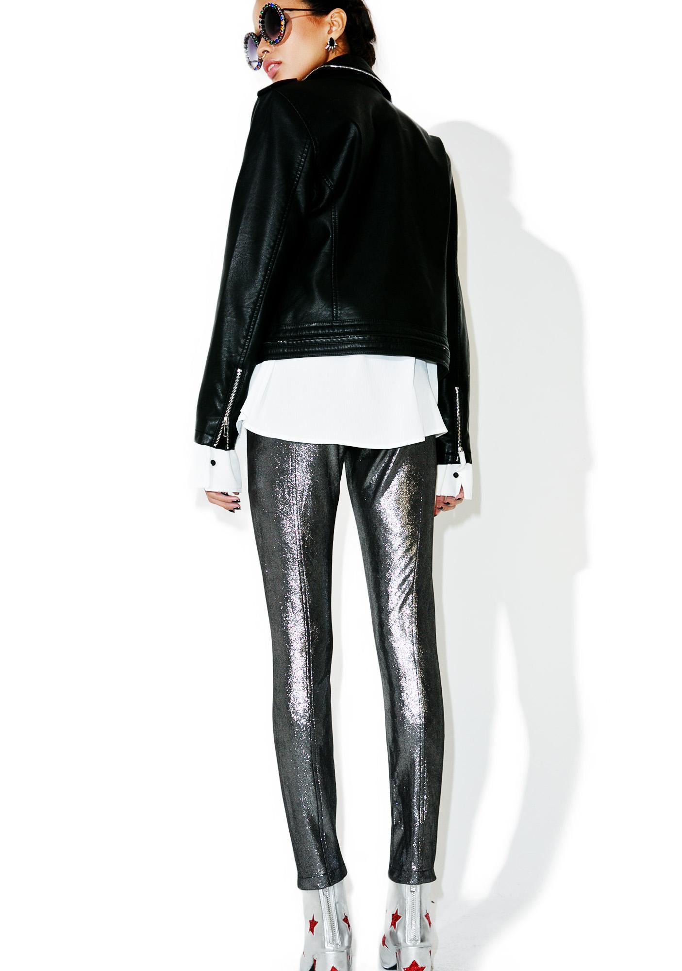 Glamorous Shameless Metallic Leggings