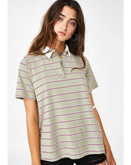 Olive Great Divide Polo Shirt