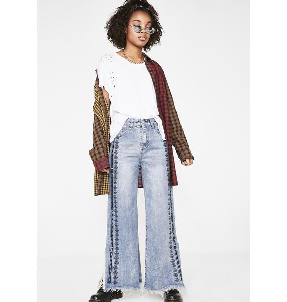 Craze Daze Embroidered Jeans