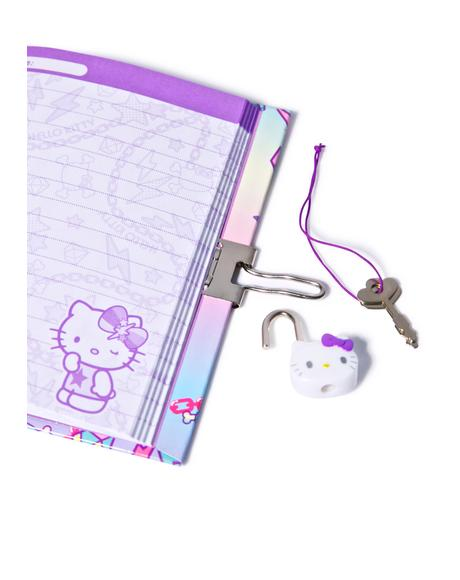 Pastel Pop Hello Kitty Locking Diary