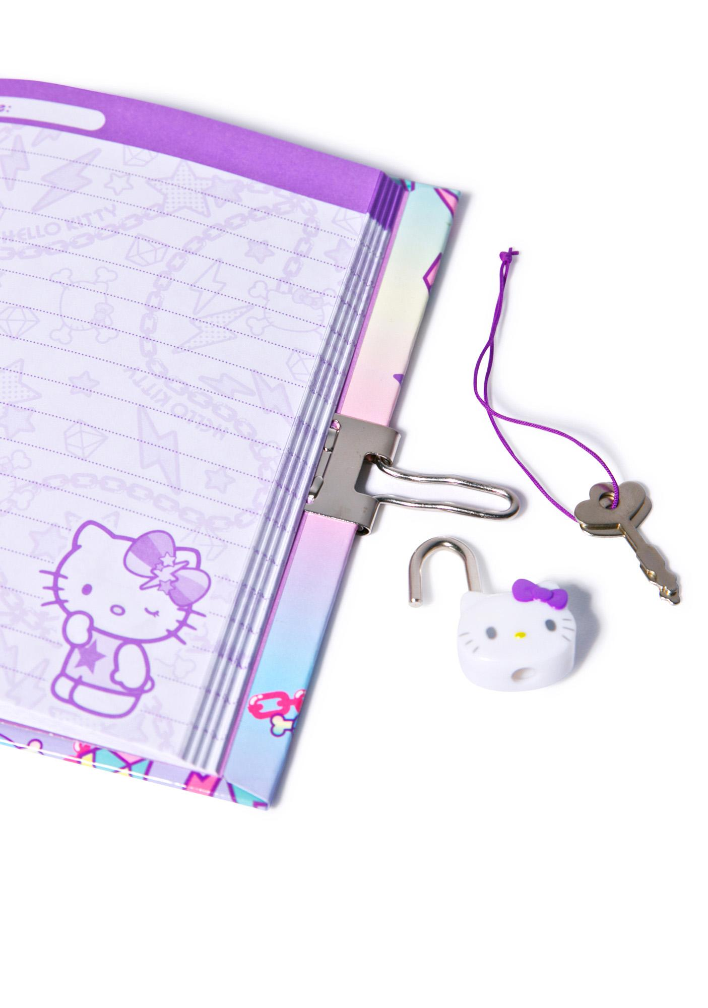 Sanrio Pastel Pop Hello Kitty Locking Diary