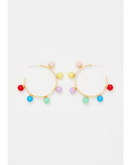 Ur My Rain-boo Hoop Earrings