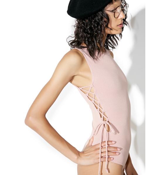 Always On Lace-Up Bodysuit