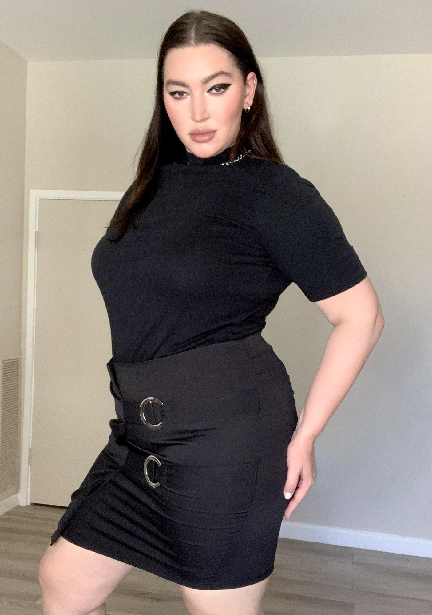 Real Chic Slay Wrap Mini Skirt