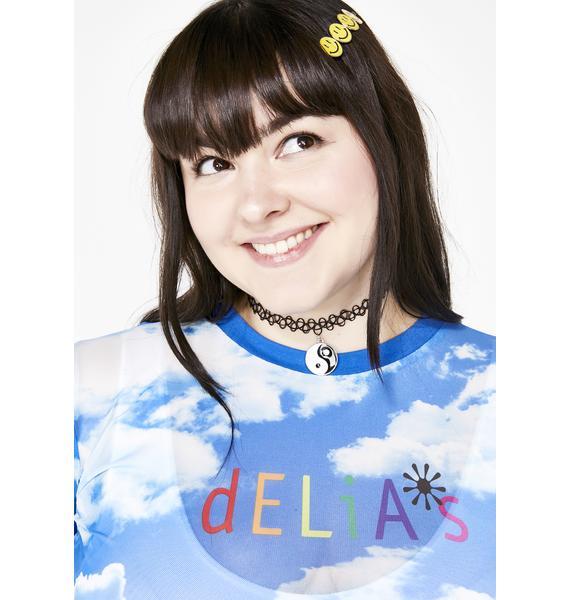 dELiA*s by Dolls Kill At Heaven's Door Mesh Top