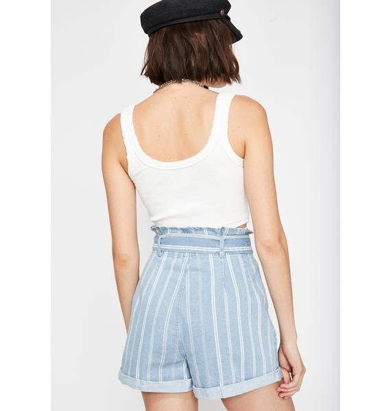 Dusted Heart Striped Shorts