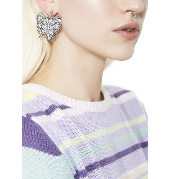 Wing It Butterfly Glitter Earrings