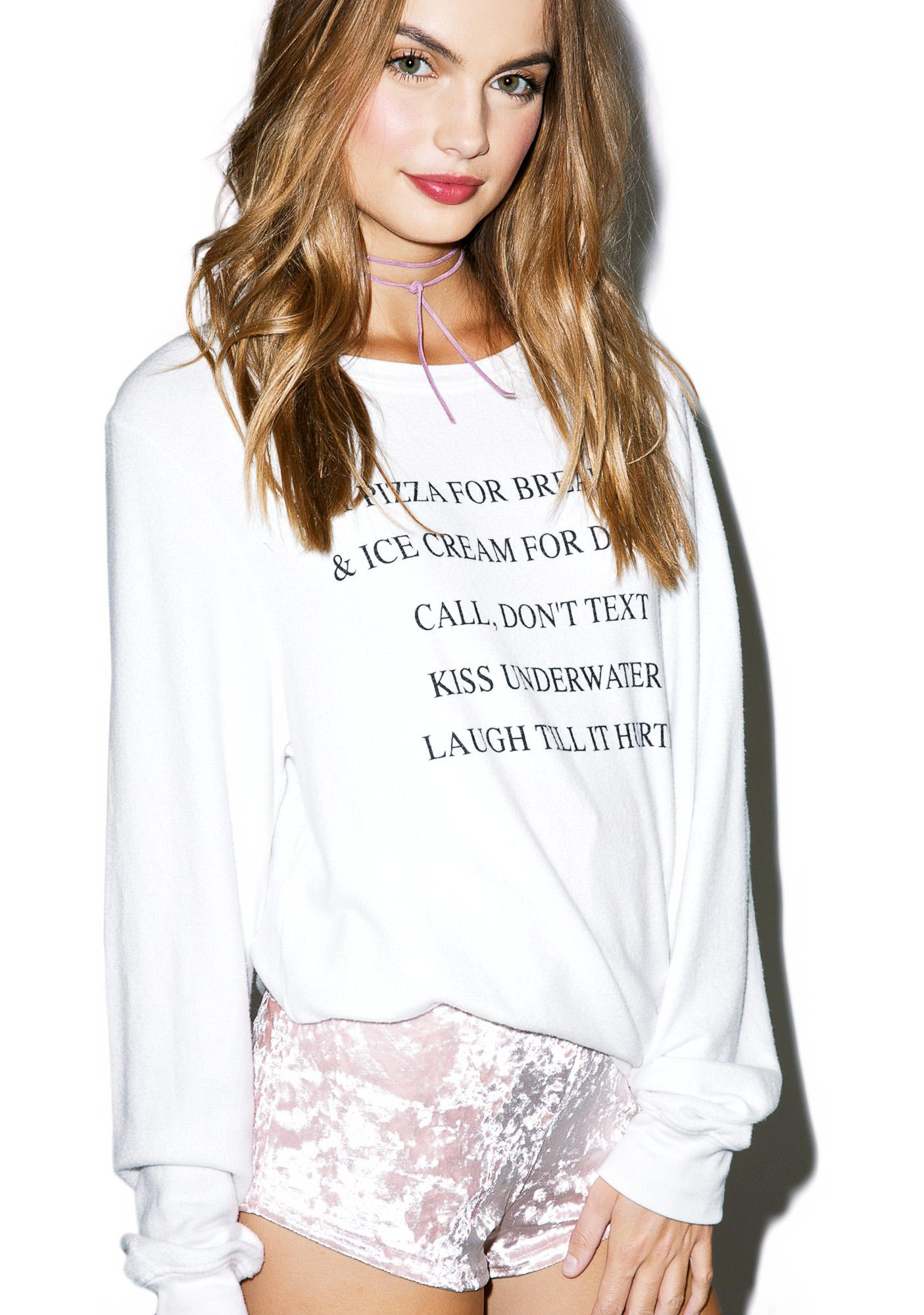 Wildfox Couture Day Off Baggy Beach Jumper