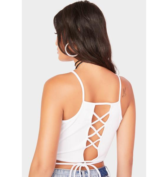 Generation Extra Lace Up Crop Top