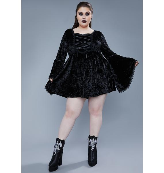 Widow Always Fear The Night Bell Sleeve Dress