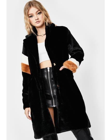 Posh Instincts Faux Fur Coat