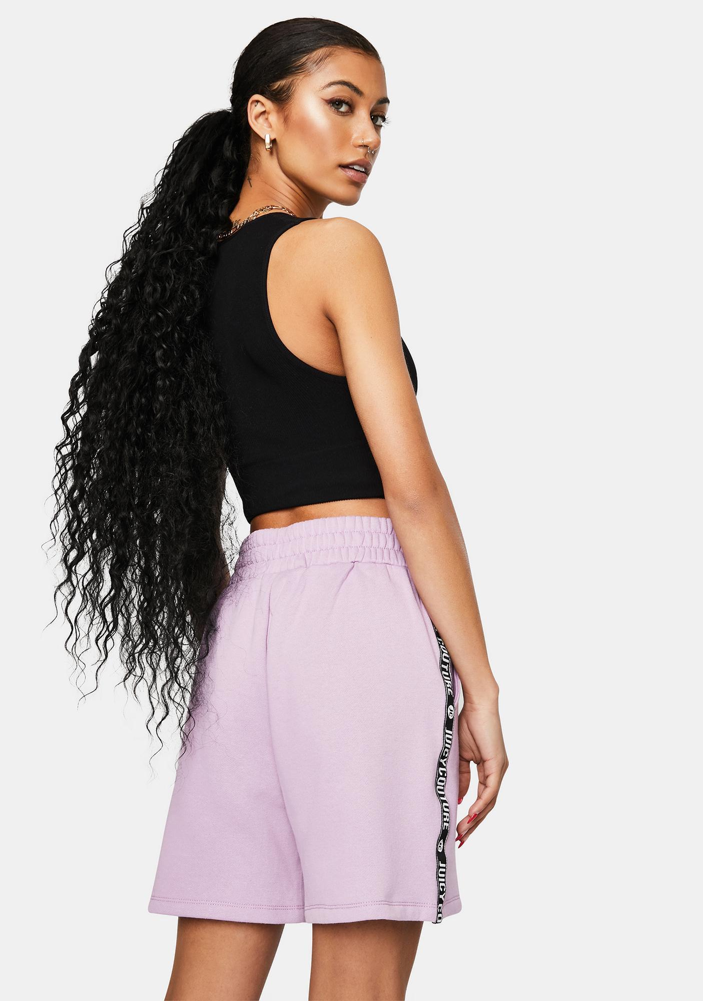 JUICY COUTURE Lavender Lipstick Fleece Shorts