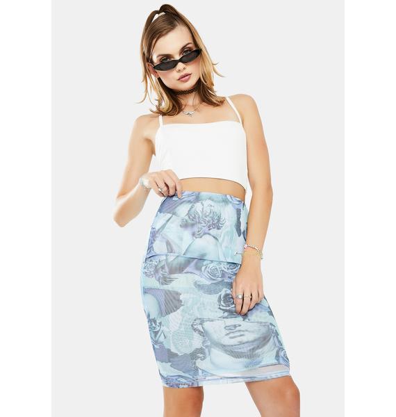 Twiin Statuesque Sheer Mesh Skirt