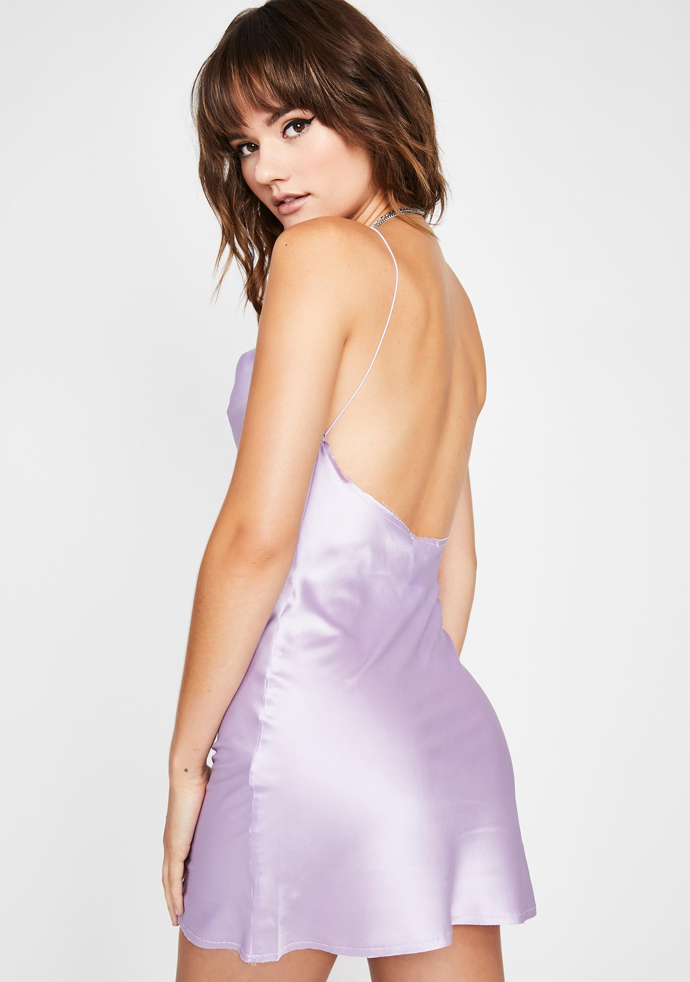 Orchid Evening Appeal Satin Dress