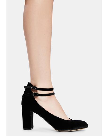 Limbo Velvet Mary Jane Heels