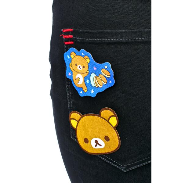 Japan L.A. Rilakkuma Iron-On Patch Set