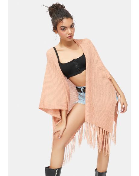 Desert Daze Fringe Knit Kimono