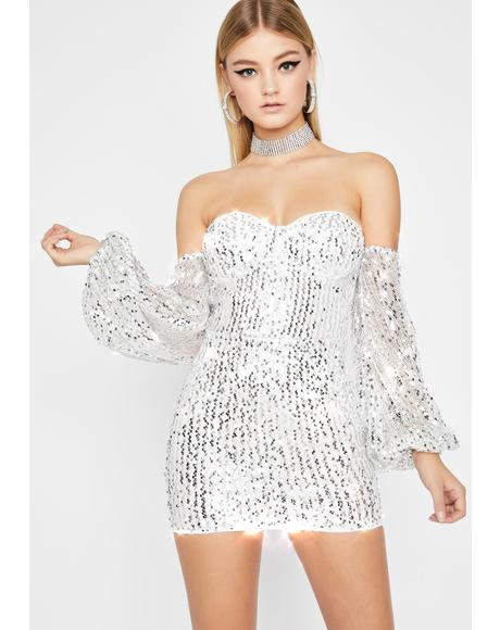 Lavishly Lit Sequin Dress