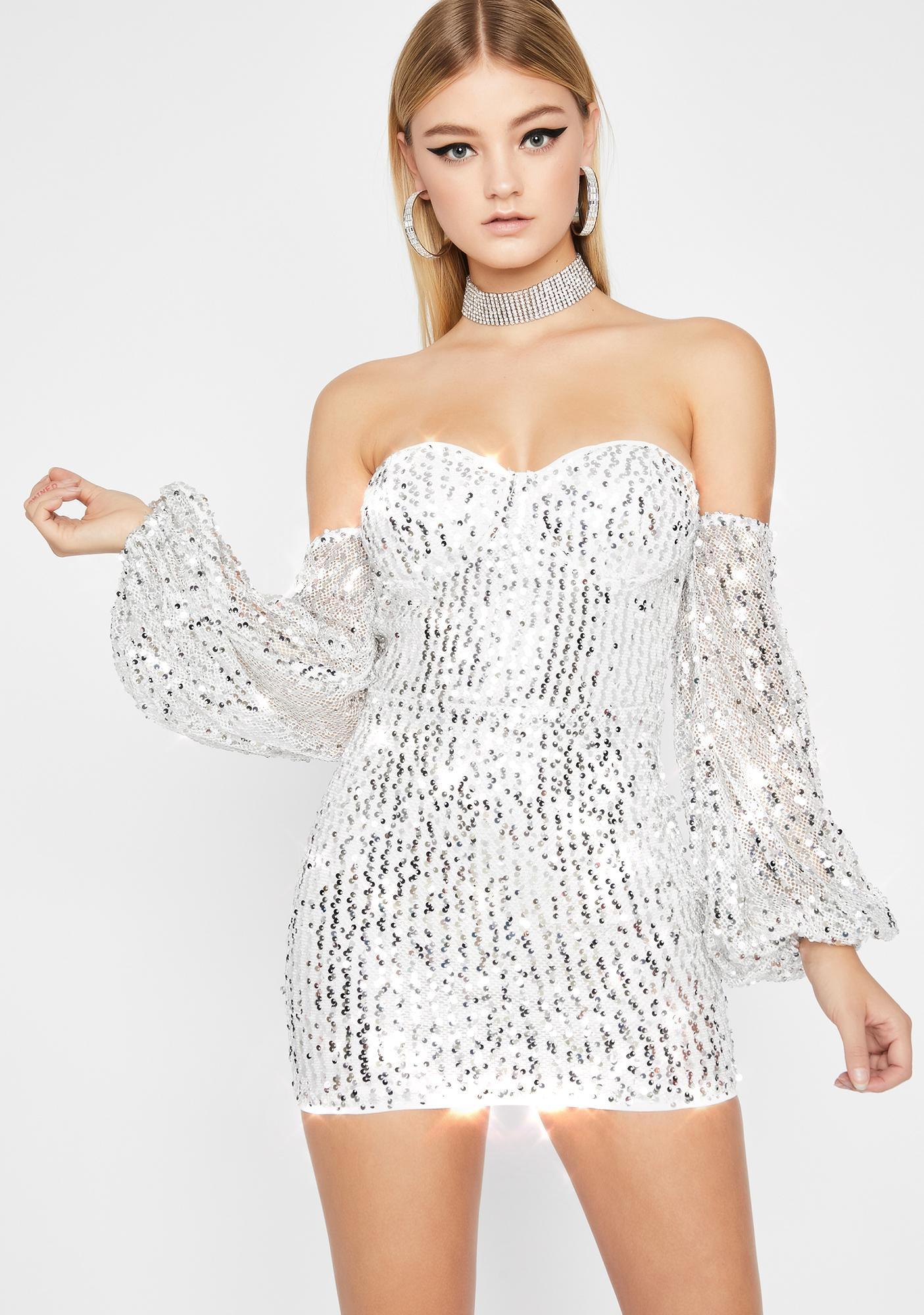 Lavishly Lit Sequin Dress