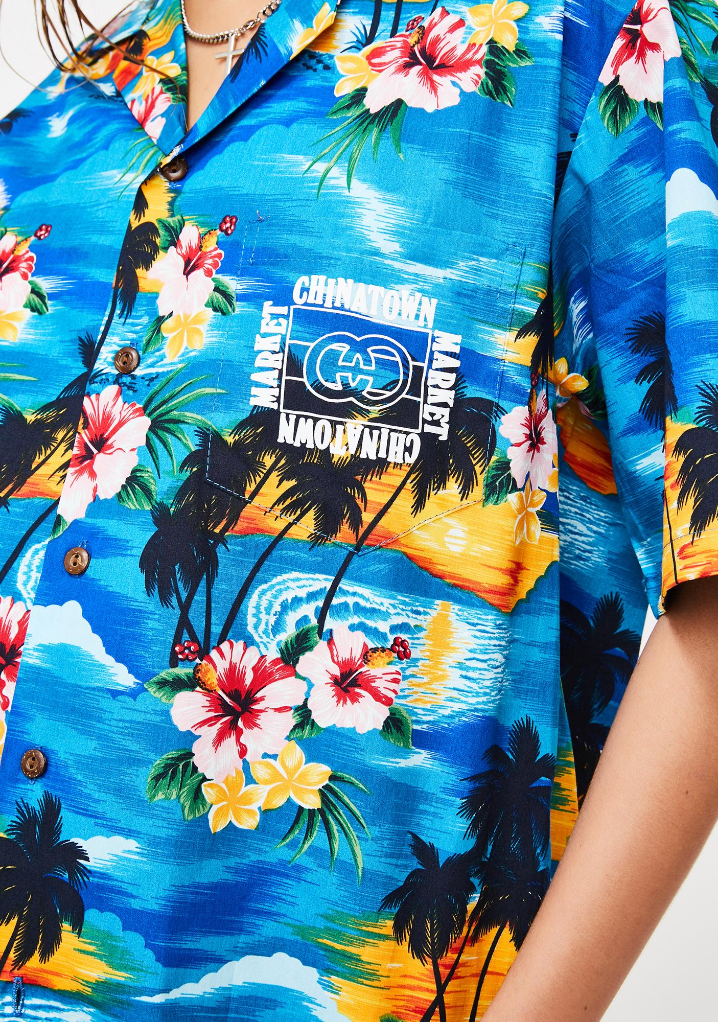 CHINATOWN MARKET Outline Hawaiian Shirt